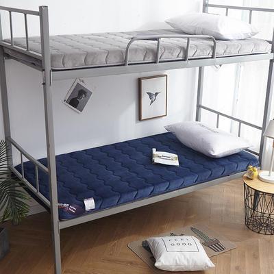 2019年新款-学生宿舍床垫(6cm) 0.9*2 蓝色