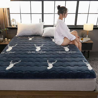2019新款-牛奶绒终版床垫(6.5cm) 0.9*2 鹿角