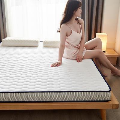 2020秋冬新品-水晶绒乳胶记忆棉床垫 0.9*1.9 白色恋人6.5公分