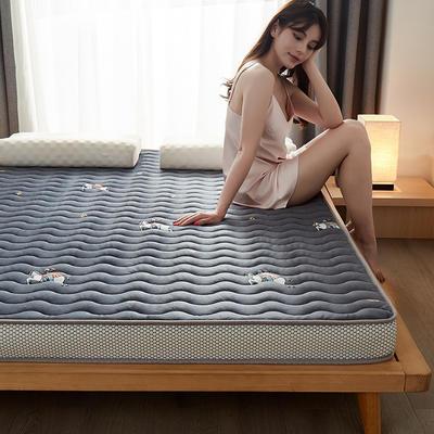 2020秋冬新品-水晶绒乳胶记忆棉床垫 0.9*1.9 皇家骑士6.5公分