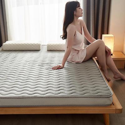 2020秋冬新品-水晶绒乳胶记忆棉床垫 0.9*1.9 灰色经典6.5公分