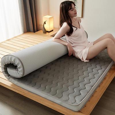 2020秋冬新品-水晶绒乳胶记忆棉床垫 0.9*1.9 灰色经典10公分