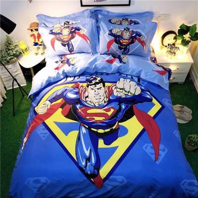 2020新款全棉网红款四件套 1.2m床单款三件套 超人先生