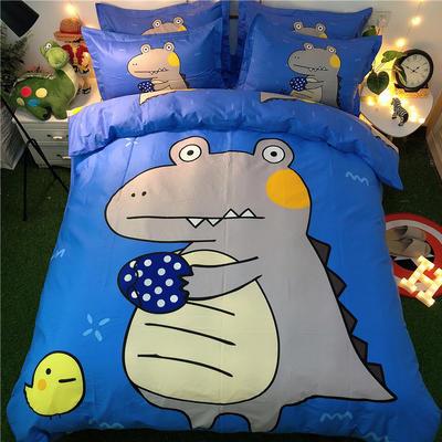 2020新款全棉卡通四件套 1.2m(床单款三件套) 鳄鱼宝贝