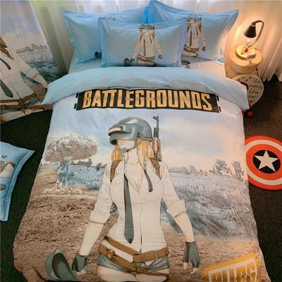 2020新款全棉13070卡通花型四件套-总(实拍一) 1.2m(4英尺)床 和平战士