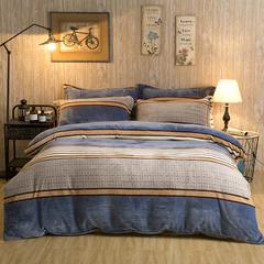 加厚云貂绒法莱绒金貂绒水晶绒四件套升级款 1.5m(5英尺)床 优雅主义