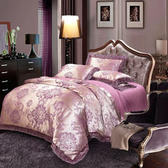 莫代尔提花套件 1.8m(6英尺)床 华丽盛典-紫金