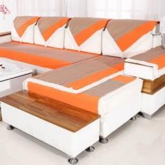 沙发巾(100*100cm)(100*190cm)(100*220cm) 套装橘色