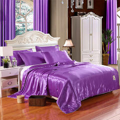 水洗真丝夏被四件套 200*230cm四件套 紫色