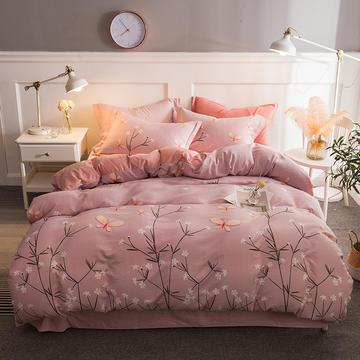 2018新款-印花保暖棉夹绒床单式四件套 三件套1.2m(4英尺)床 花魁