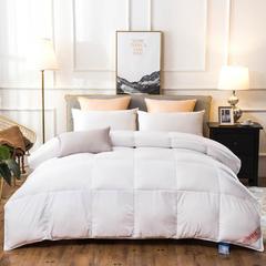2018新款-莱卡棉防雨布羽绒被被子被芯 150*200cm/3斤 白色