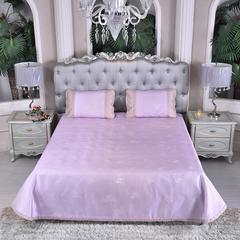 冰丝席可水洗 时尚简约包边凉席 床单三件套-伊芙琳 1.8m(6英尺)床 花音-紫
