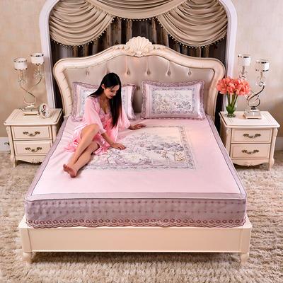 2020款席大哥 数码印花蕾丝冰丝席三件套床笠款 1.5m(5英尺)床 中国风-玉