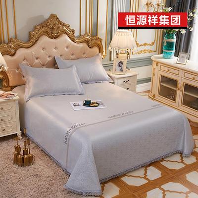 2020新款恒源祥集團涼席蕾絲花邊冰絲席床單三件套 1.5m(5英尺)床 印象之城
