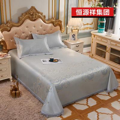 2020新款恒源祥集團涼席蕾絲花邊冰絲席床單三件套 1.5m(5英尺)床 阿蘭若