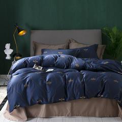 60长绒棉系列四件套 2.0m(6.6英尺)床 王者荣耀-蓝