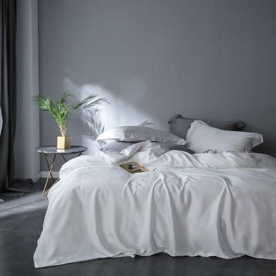 2018新款60天丝纯色四件套 1.5m(5英尺)床 本白
