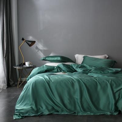 2018新款60天丝纯色四件套 1.5m(5英尺)床 橄榄绿