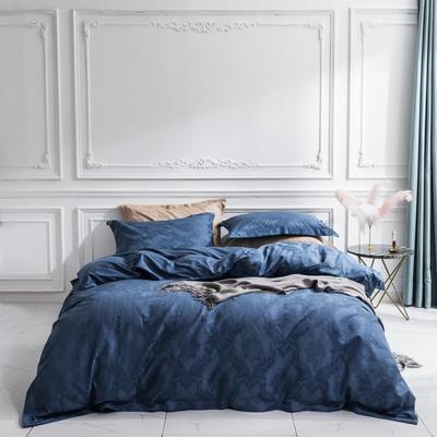 2018新款维罗妮卡系列四件套--全棉浮雕 1.5m/1.8m床 蓝色