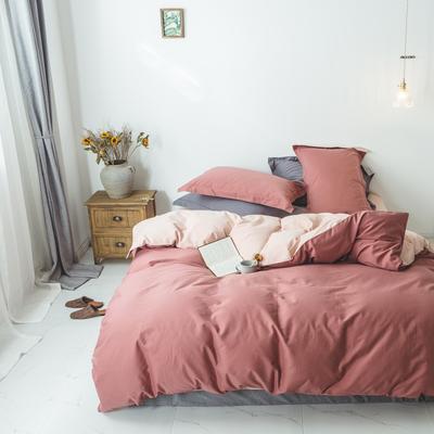 2018新款60双股磨毛纯色(双拼)四件套 1.5m(5英尺)床 遇见梦中的自己