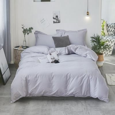 2019新款40支全棉肌理绣花四件套 1.5m(5英尺)床 条纹-灰