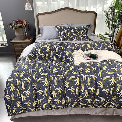 2019新款60S数码印花•长绒棉四件套 1.5m(5英尺)床 香蕉