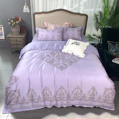 2019新款60S数码印花•长绒棉四件套 1.5m(5英尺)床 颜如玉-紫