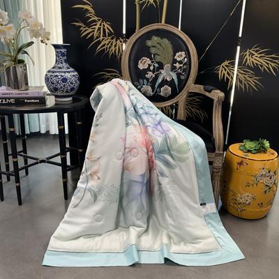 2019新款天丝印花--东方美学夏被 200X230cm 花束