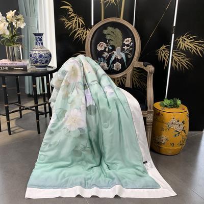 2019新款天丝印花--东方美学夏被 200X230cm 蔓芷-绿