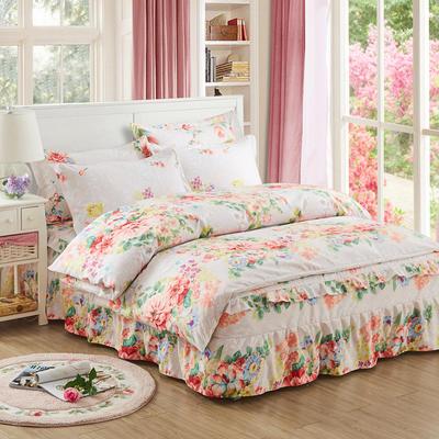 韩版加厚-床裙四件套 1.5m(5英尺)床 春溢倾城