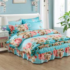 韩版加厚-床裙四件套 2.0m(6.6英尺)床 花香似情