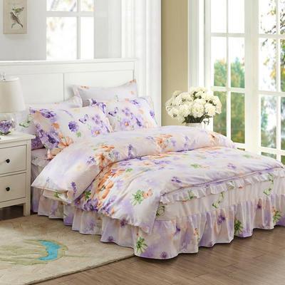 韩版加厚-床裙四件套 1.5m(5英尺)床 如梦