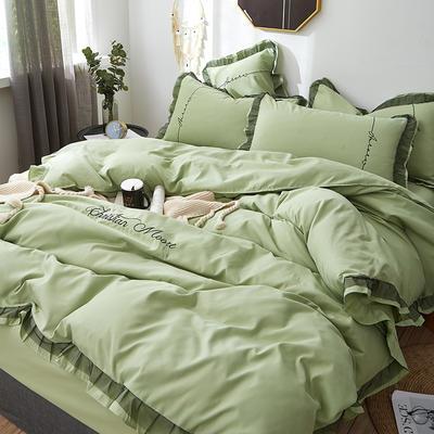 2019新款蕾丝刺绣四件套 1.5m(5英尺)床 芬兰绿