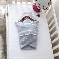 婴童抱被6层纱布抱被 爱心-灰