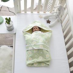 婴童抱被6层纱布抱被 荷包蛋-绿
