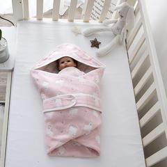 婴童抱被6层纱布抱被 小羊-粉