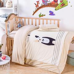 婴童彩棉大版花幼儿园套件 不含芯四件套 9