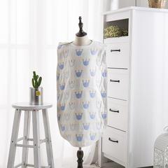 婴童睡袋6层纱布睡袋 蓝色45*80