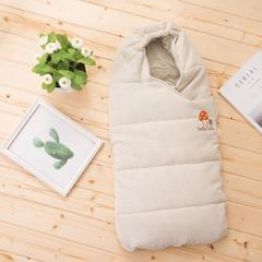 婴童睡袋天然彩棉婴儿襁褓睡袋 蘑菇