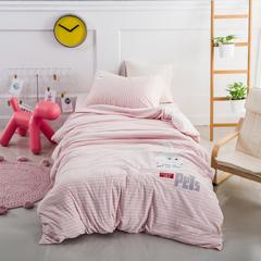 婴童套件萌萌兔针织棉 1.2m(4英尺)床 粉色