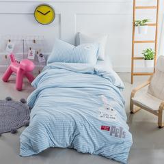 婴童套件萌萌兔针织棉 1.2m(4英尺)床 蓝色