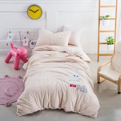 婴童套件萌萌兔针织棉 1.2m(4英尺)床 玉色