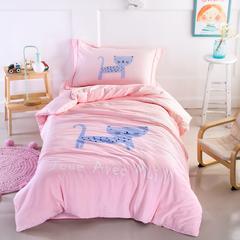 婴童套件幸运猫 1.5m(5英尺)床 幸运猫-粉
