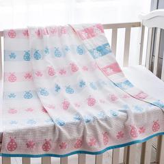 童毯纱布童毯(七彩瓢虫105*105cm) 1
