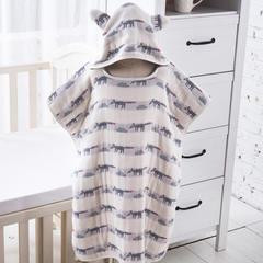 婴童浴巾6层纱布斗篷式浴巾(6层纱布婴儿式斗篷浴巾60*70) 1