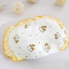 婴童枕头(针织印花小米枕20*30) 黄色