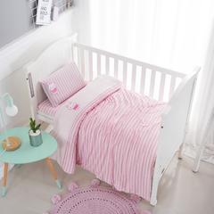 婴童套件机绣三件套 1.2m(4英尺)床 粉