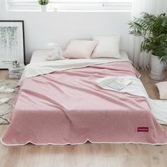 全棉针织提花空调被 150x200cm 简约-粉