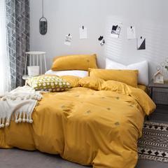 2019新款-针织棉绣花款四件套 三件套1.2m(4英尺)床 菠萝