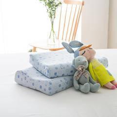 境月儿童曲线乳胶枕26*44cm/只 儿童曲线枕蓝色